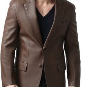 BGSD NWOT Mens leather Blazer